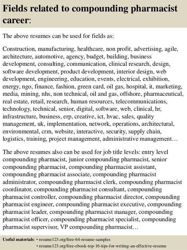 Resume Objective Examples Pharmacy Technician