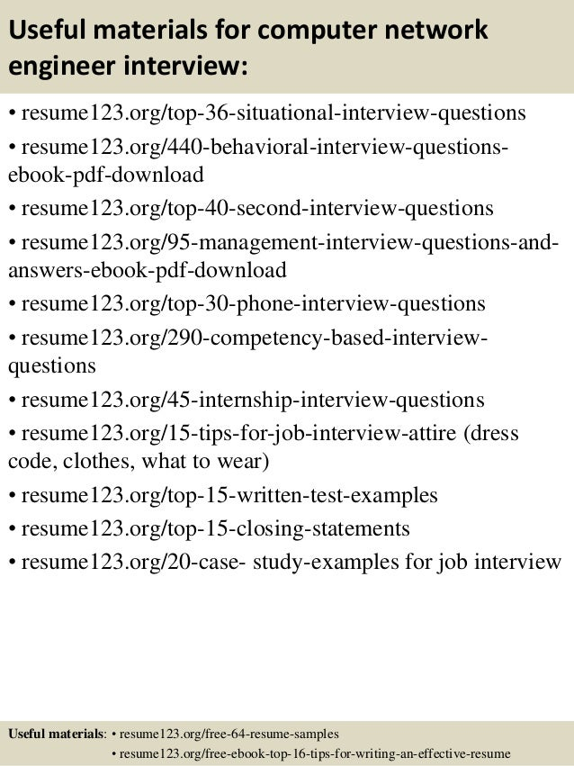 12 useful materials for computer network engineer - Network Engineer Resume Objective