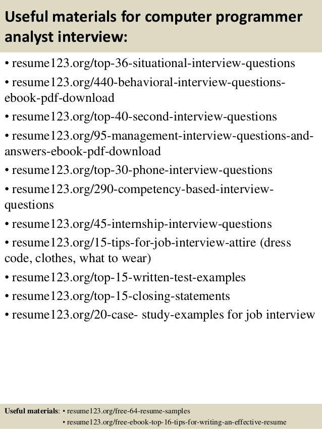 Sample Resume Computer Programmer Zrom