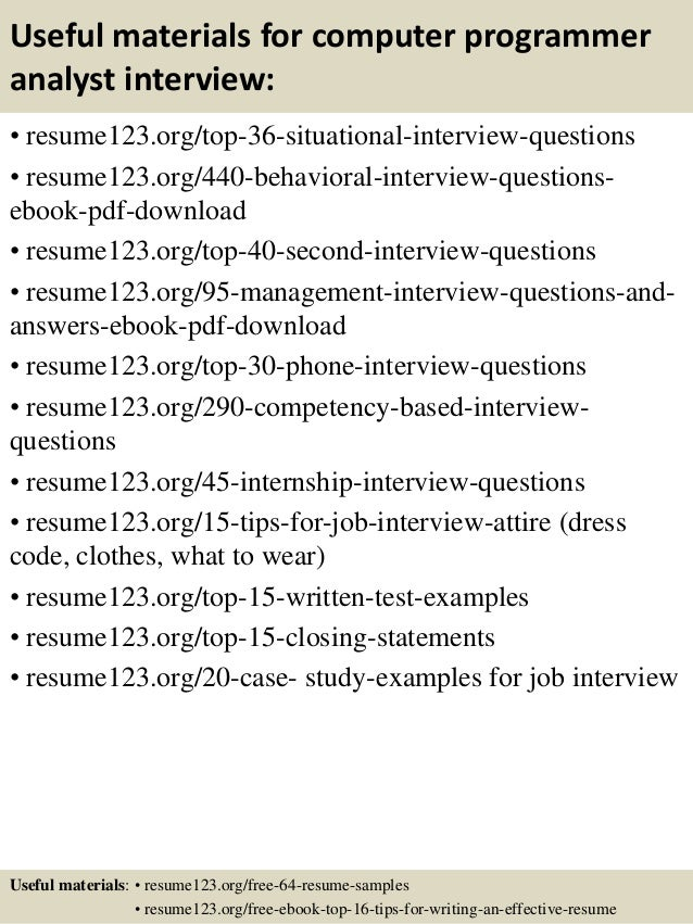 related post for sample resume computer programmer - Computer Programmer Resume Examples
