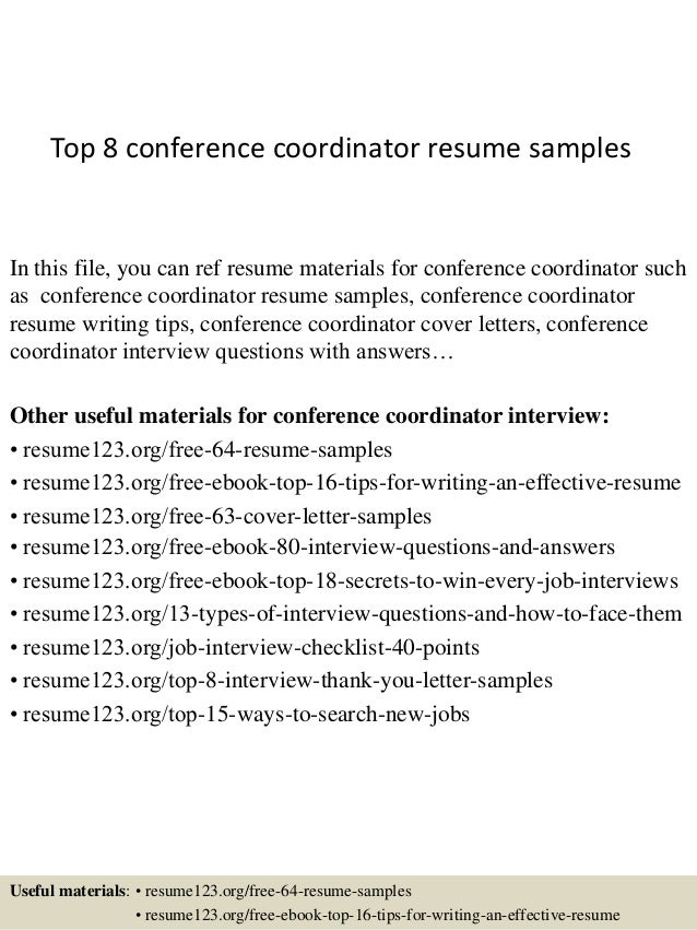 Conference Coordinator Resume Sales Coordinator Lewesmr Back To Event  Manager Cover Letter Template Resume