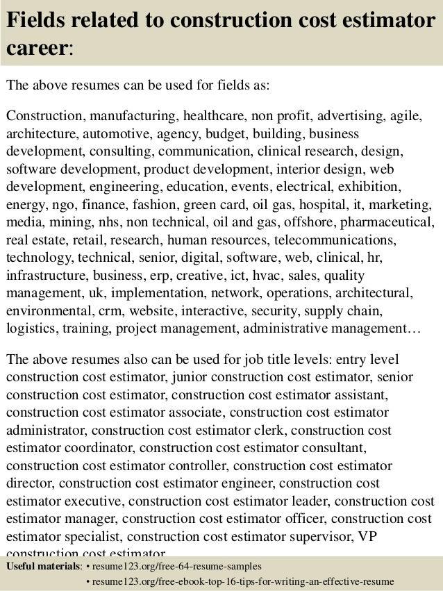 construction estimator resume examples - Jasonkellyphoto.co