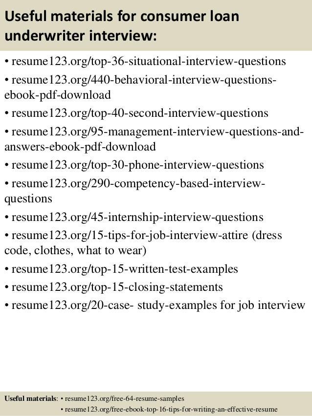 12 - Underwriter Resume Sample