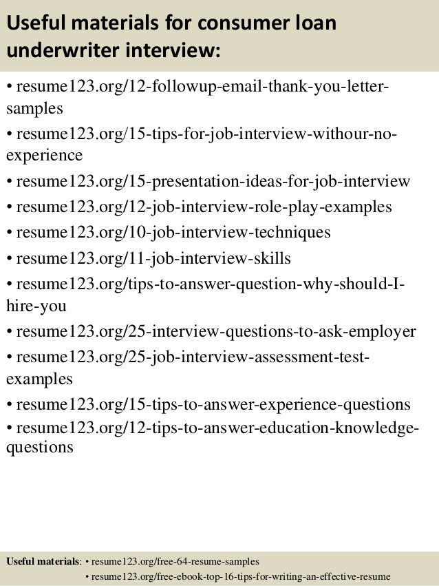 top 8 consumer loan underwriter resume samples sample underwriter resume