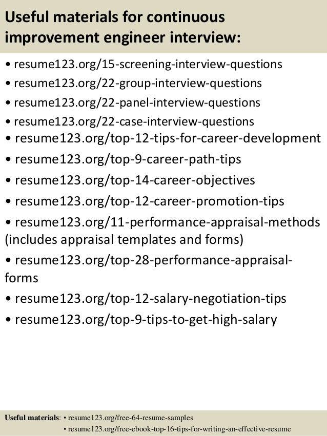 resume improvement