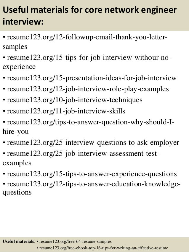 top core network engineer resume samples - Network Engineer Resume