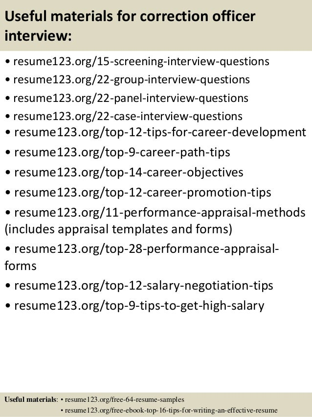 resume objective examples correctional officer frizzigame