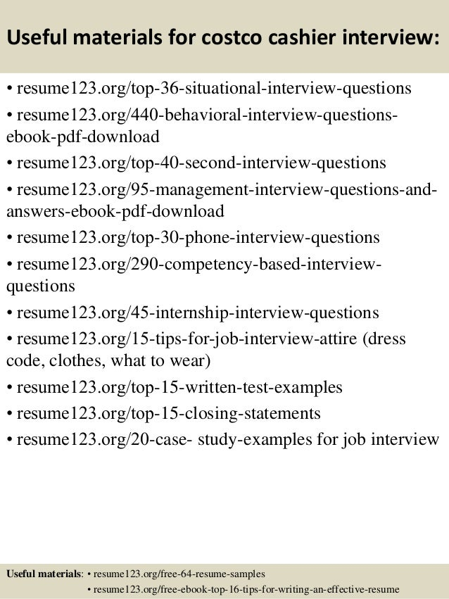 Duties For Cashier Resume