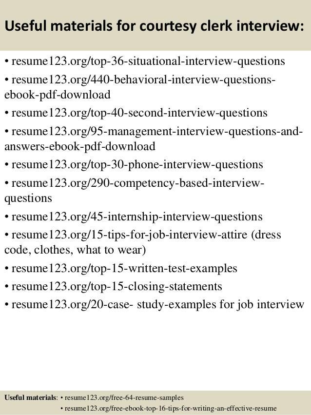 Top 8 courtesy clerk resume samples