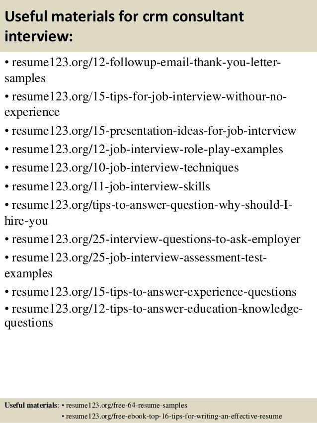resume crm