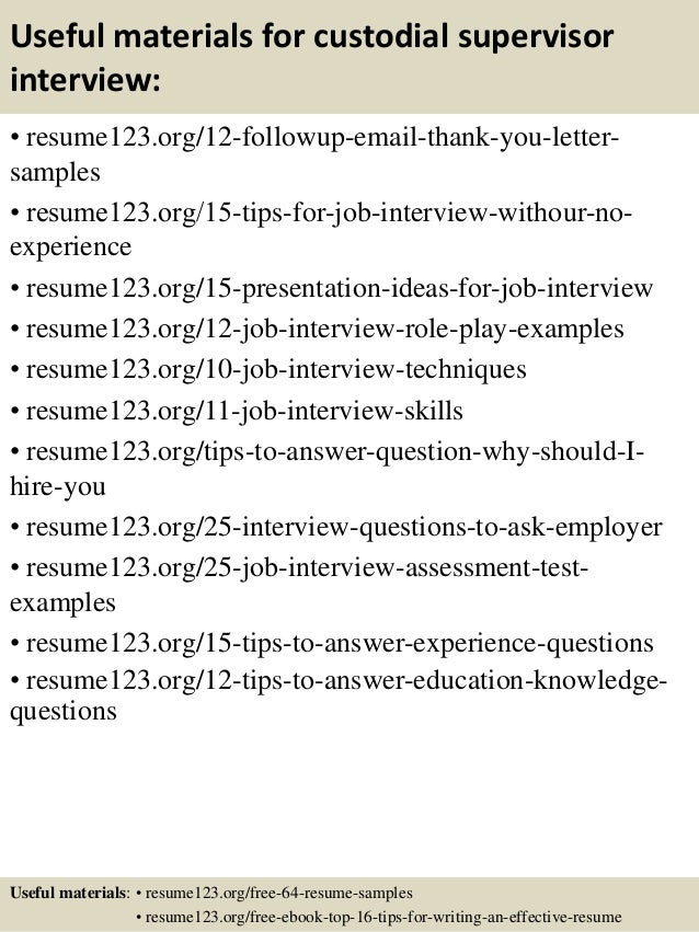 Resume Resume Examples For Janitorial Supervisor top 8 custodial supervisor resume samples 14 useful materials for supervisor