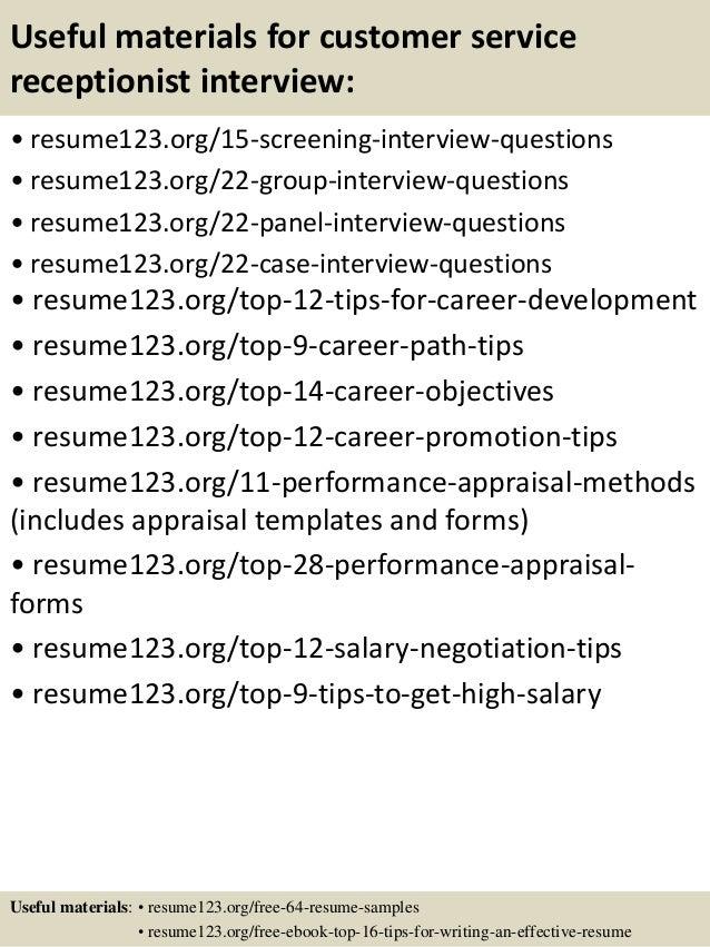 Best Receptionist Resume Example LiveCareer. Skill Based Resume .