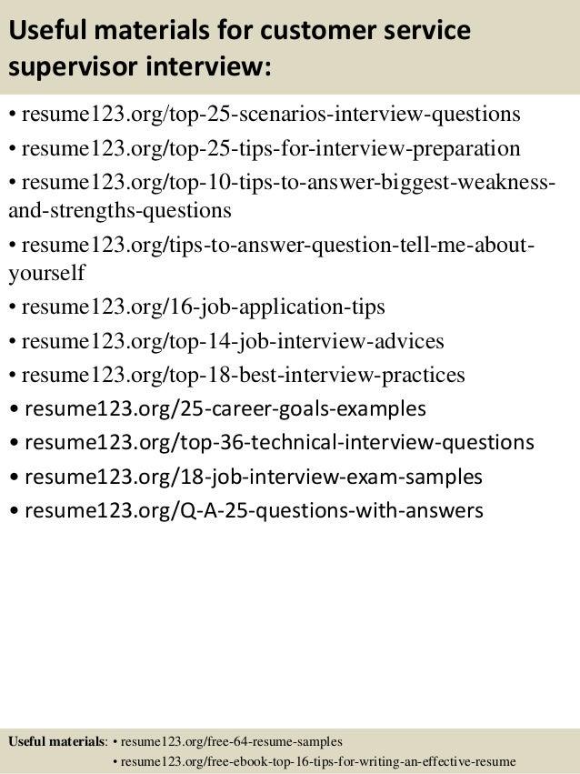top 8 customer service supervisor resume samples