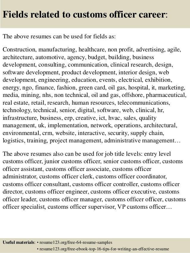 border patrol resume template
