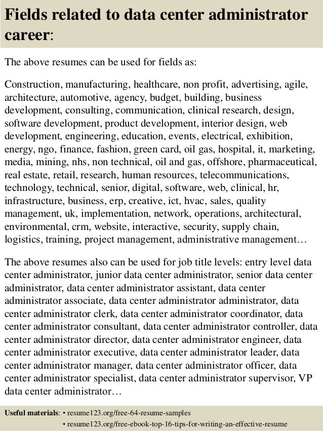 ... 16. Fields Related To Data Center ...