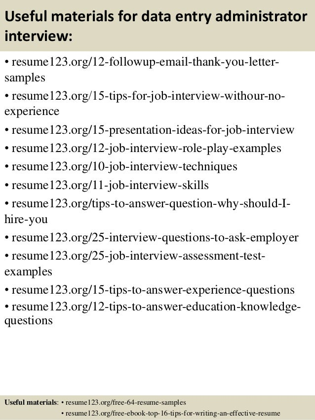 data entry sample resumes