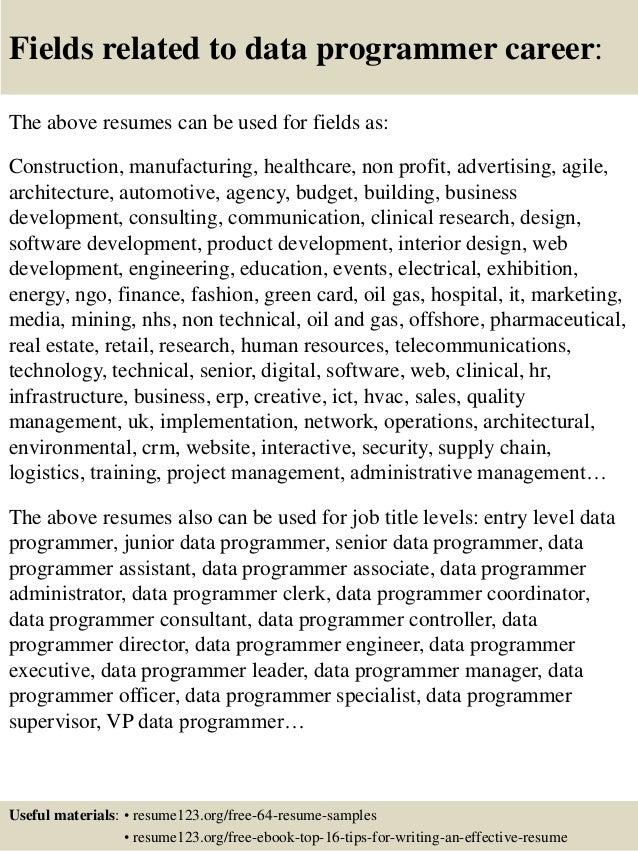 programmer resume - Computer Programmer Resume Examples