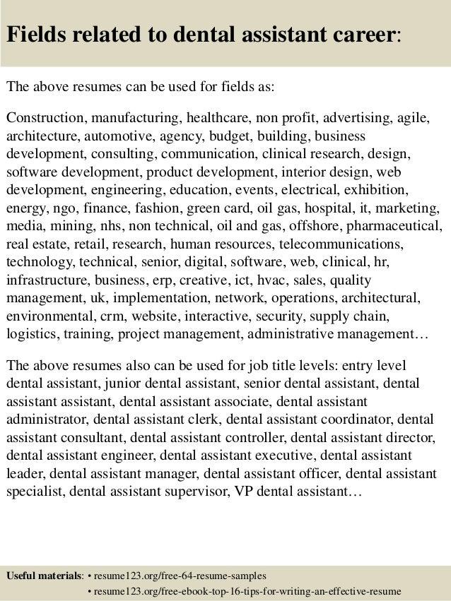 dental assitant resumes