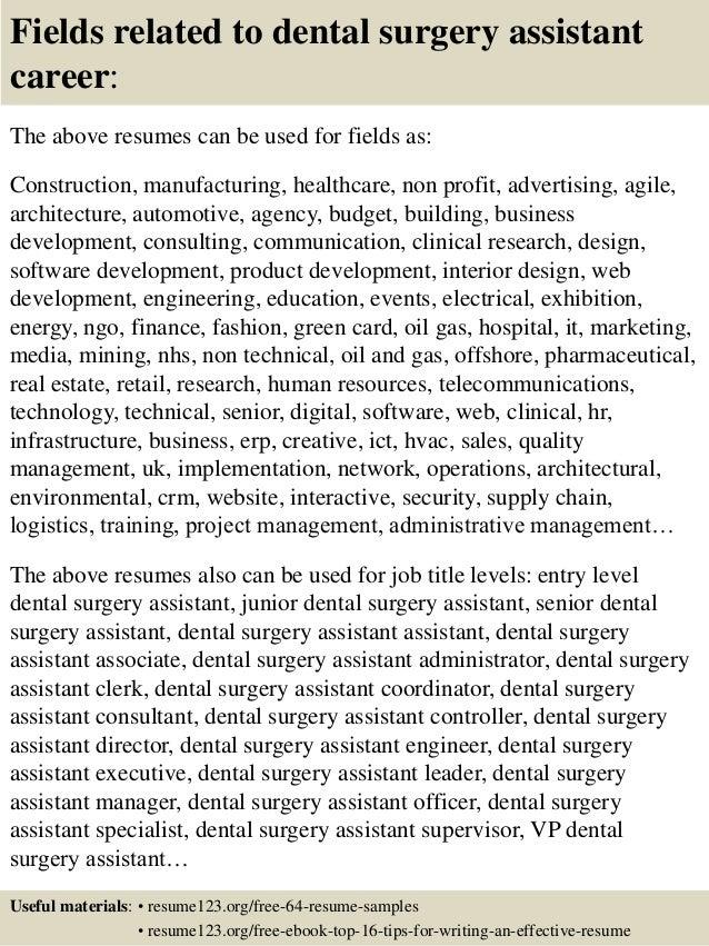 dental surgeon resume