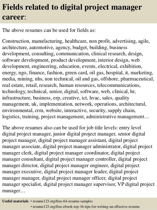 pmp resume sample