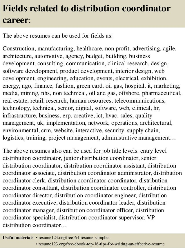 ... 16. Fields Related To Distribution ...