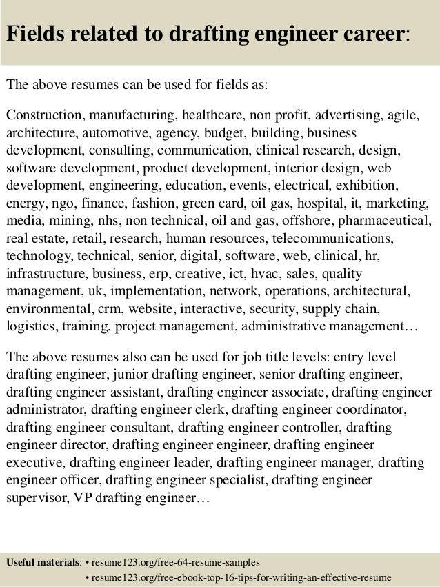 drafting resumes