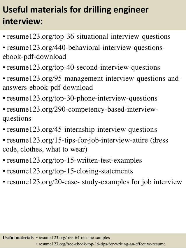 Top 8 drilling engineer resume samples