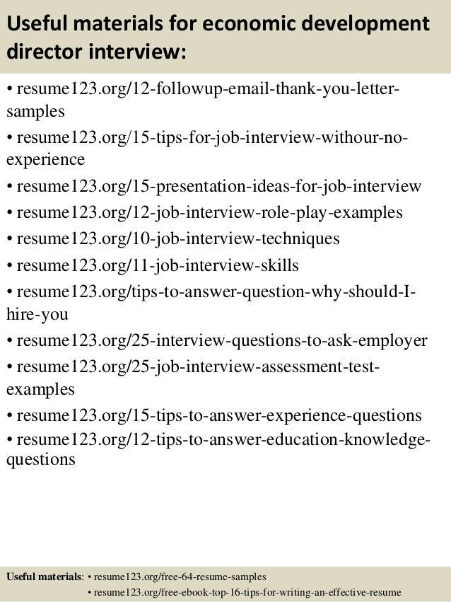top 8 economic development director resume sles