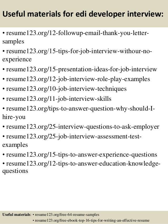 Top 8 edi developer resume samples
