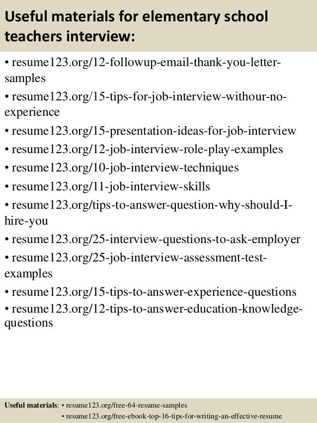 Sample Teacher Resume Sample Elementary School Teacher Career AppTiled Com  Unique App Finder Engine Latest Reviews  Sample Elementary School Teacher Resume