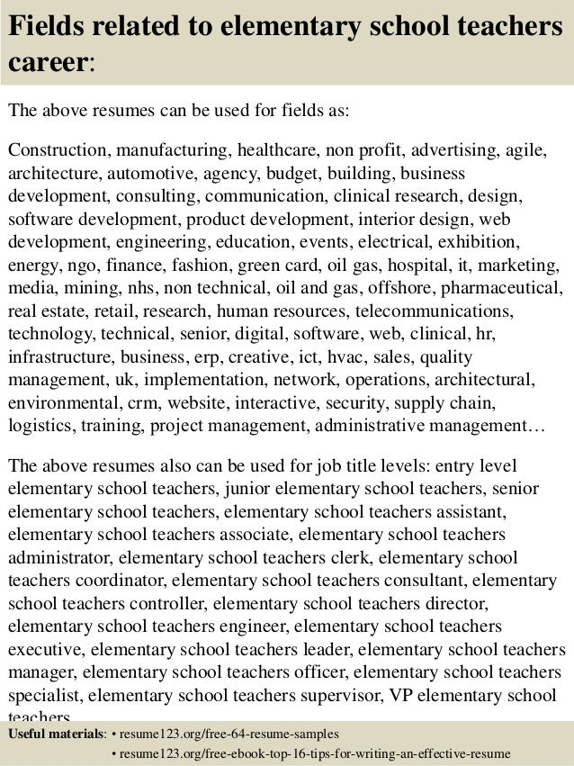 An essay on elementary school teachers