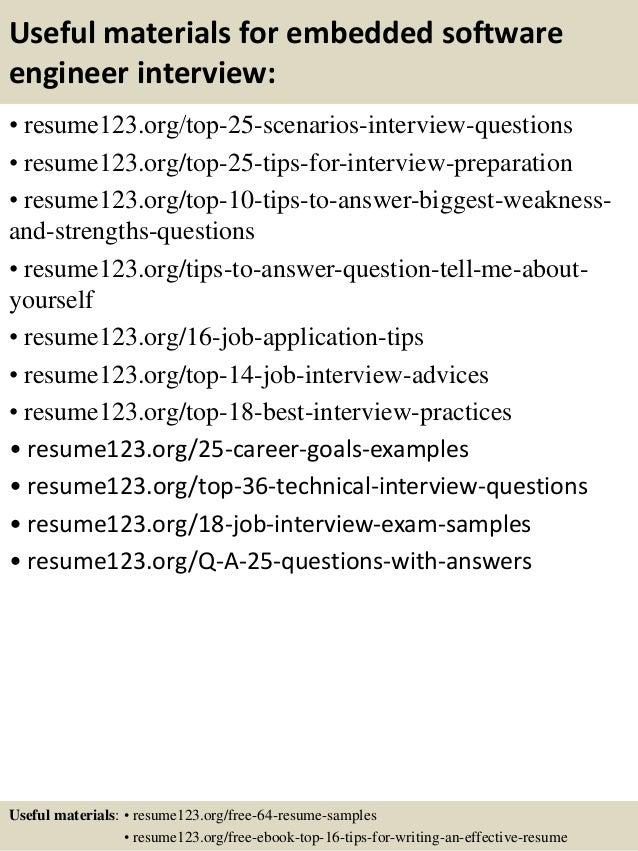 Top 8 embedded software engineer resume samples