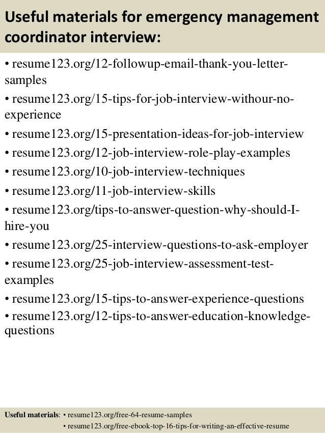 Top 8 emergency management coordinator resume samples