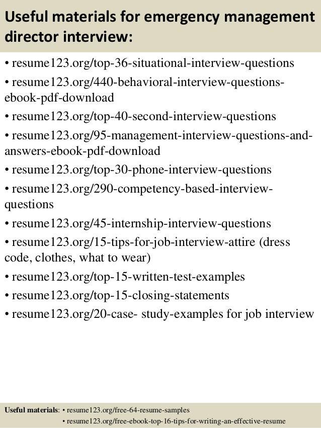 top 8 emergency management director resume samples