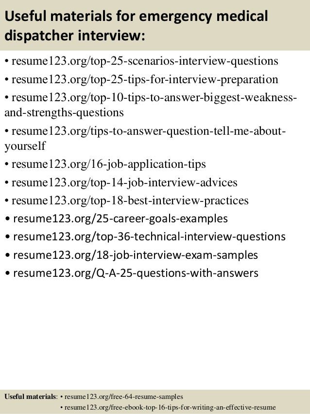 interview questions for 911 dispatcher