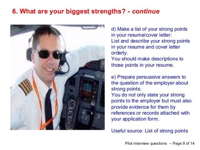 pilots cover letter