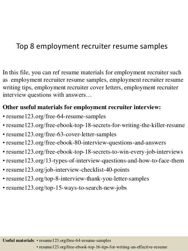 recruiter resume sample hrrecruiter free resume samples blue sky