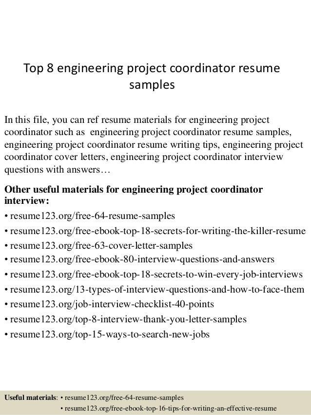 top8engineeringprojectcoordinatorresumesamples1638jpgcb1433583646