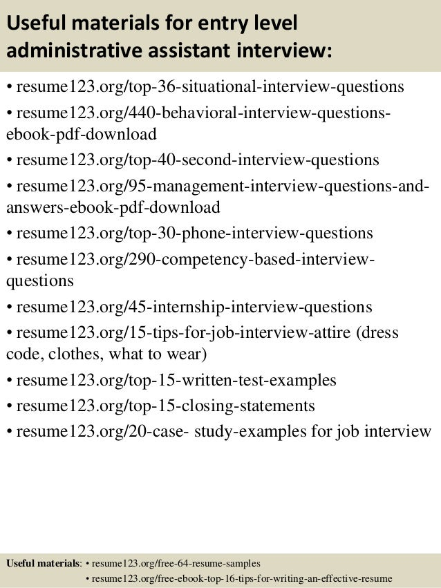 Top 8 entry level administrative assistant resume samples