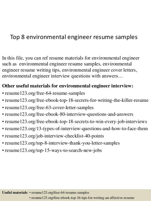 environmental engineering resume
