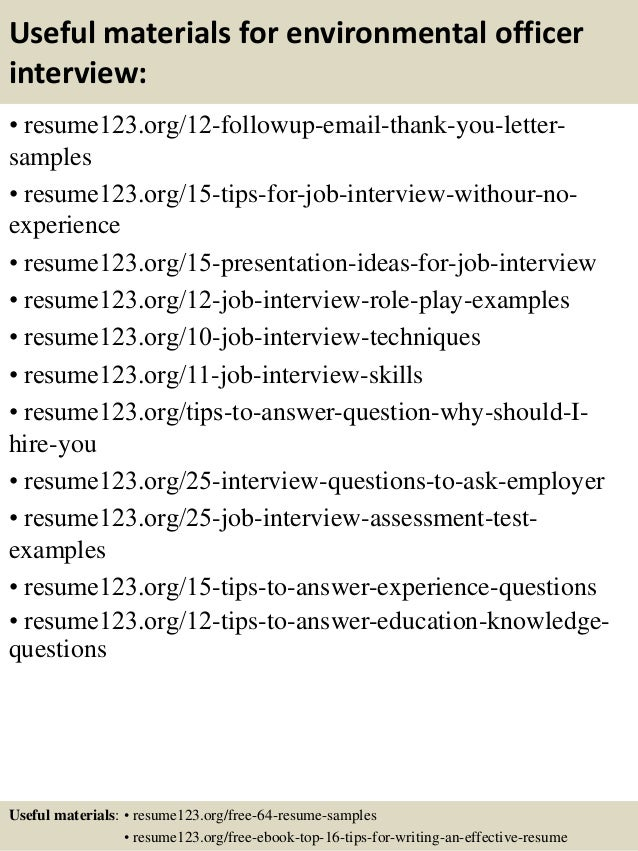 ... 14. Useful Materials For Environmental Officer ...
