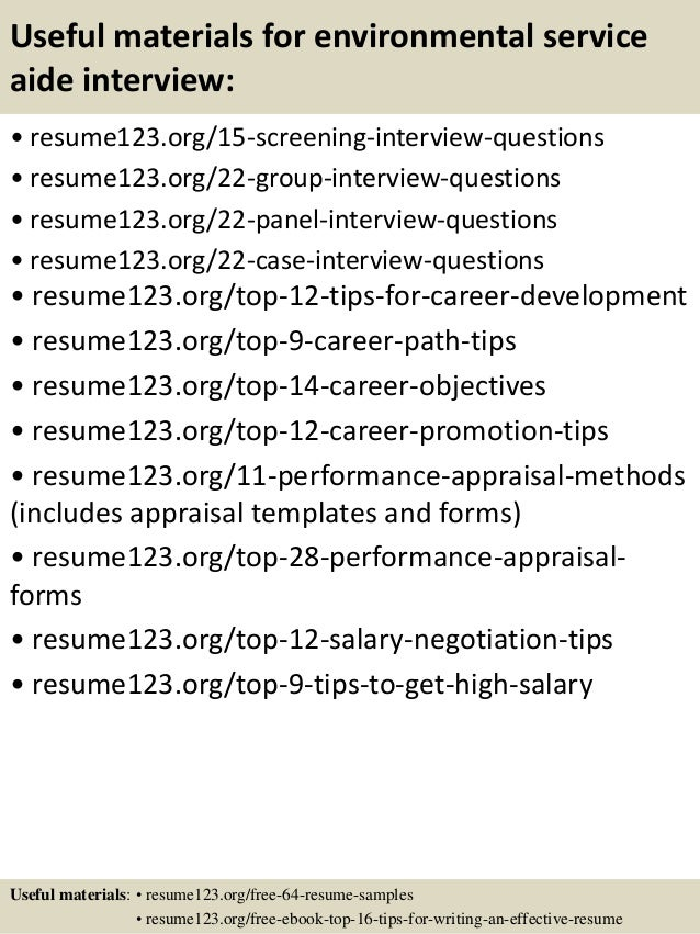 objective for environmental services resume - Acur.lunamedia.co