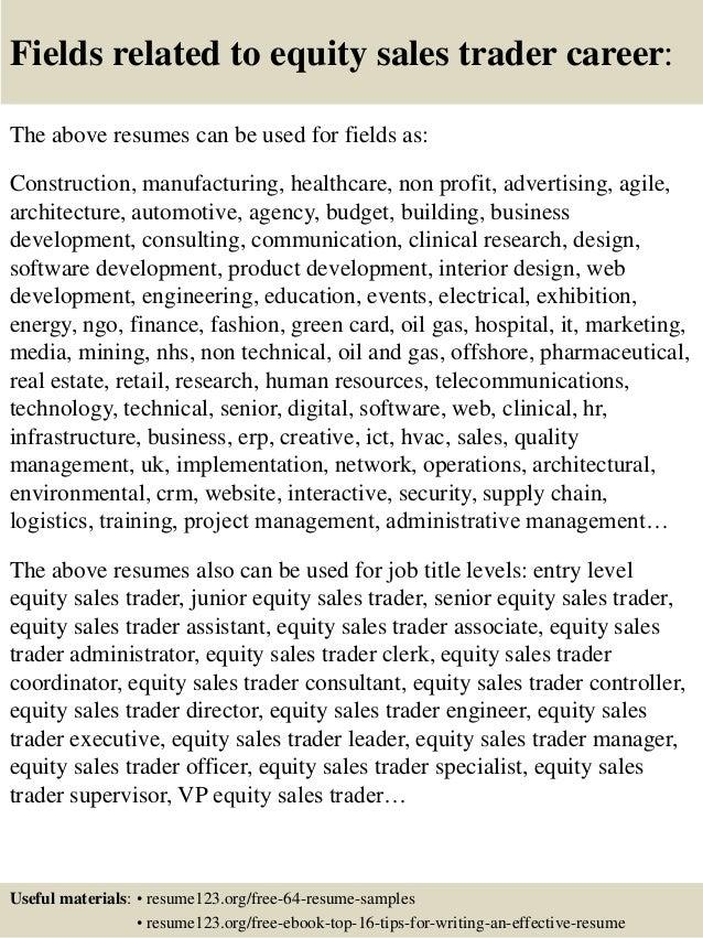 Equity Sales Trader Cv - Contegri.com