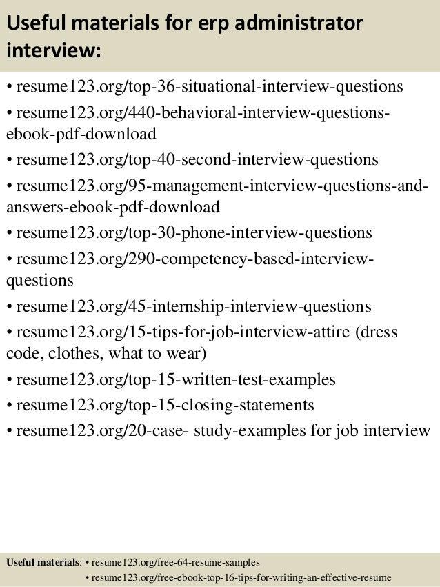 Top 8 erp administrator resume samples