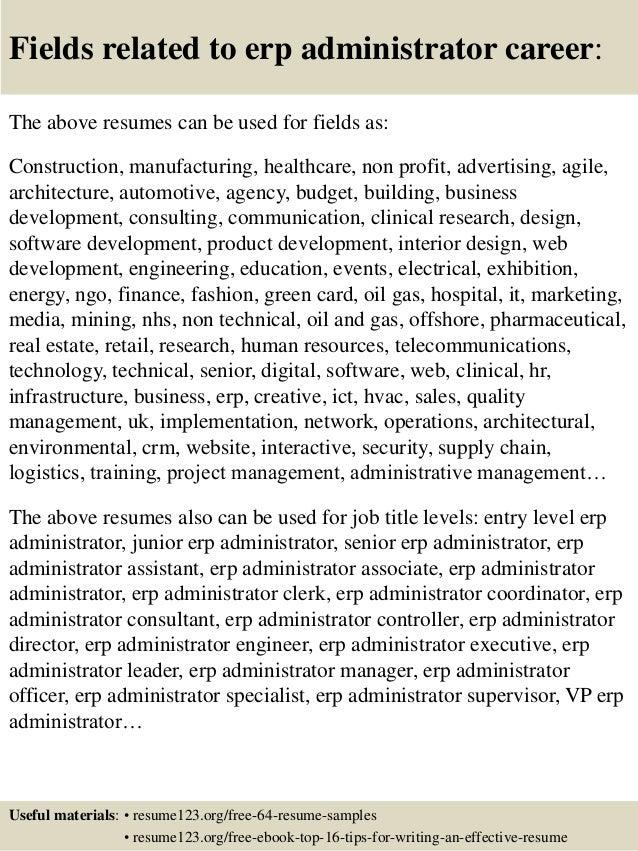 erp administrator sample resume database administrator resume - Maximo Administrator Sample Resume