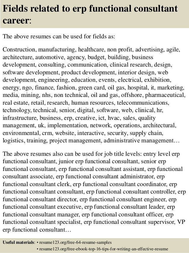 ... 16. Fields Related To Erp Functional Consultant ...