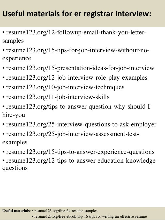 SlideShare  Registrar Resume