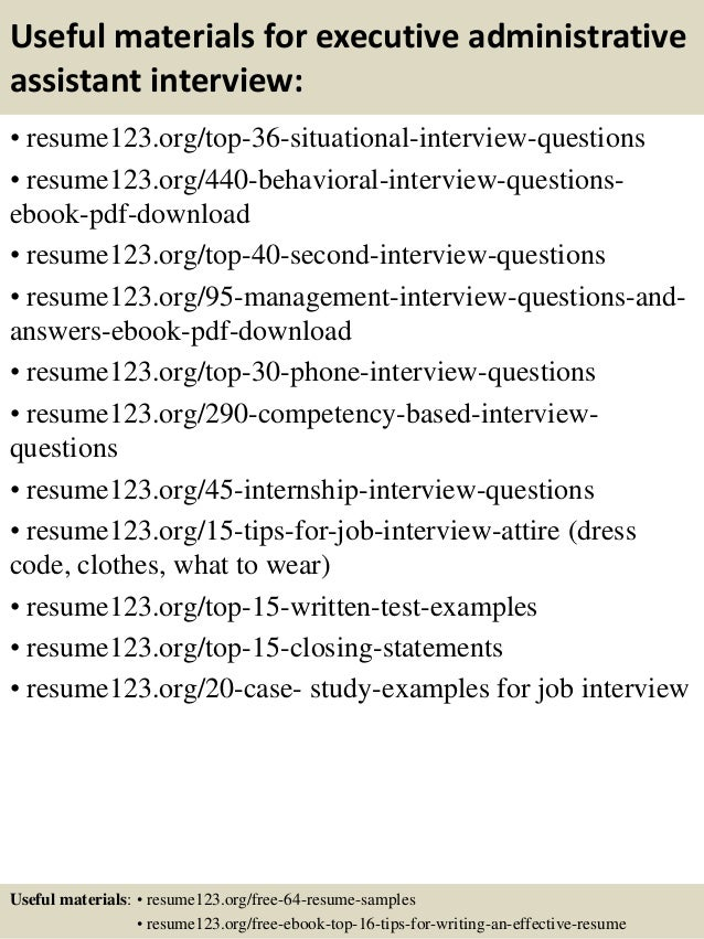 Best Executive Assistant Resume Example LiveCareer Experience Resumes  Executive Assistant Resume Sample