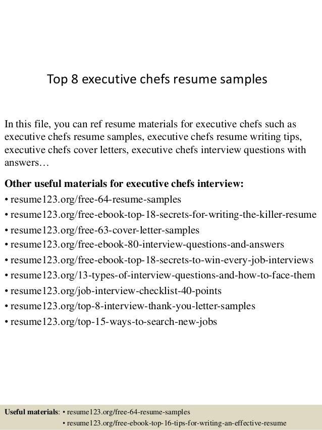 top 8 executive chefs resume samples 1 638 jpg cb 1437637523