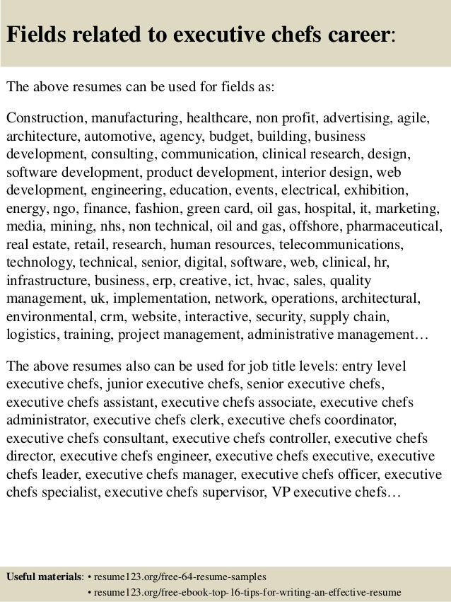 Executive Chef Resume Examples. Research Chef Sample Resume - Cv ...